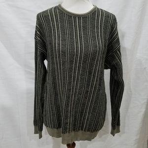 Vintage 90s J. Ferrar Olive Striped Sweater